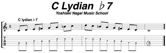 スケール,ジャズギター,リディアン♭7