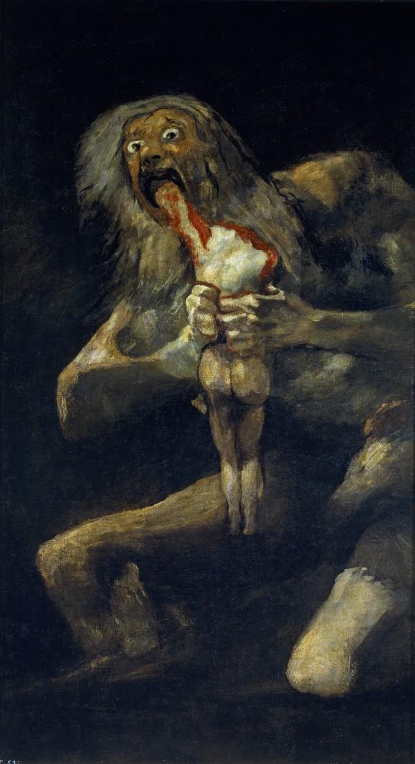 黒い絵,ゴヤ,サトゥルヌス