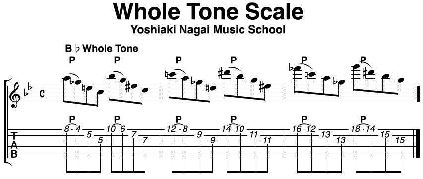 ホールトーンスケール,ジャズギター,分析