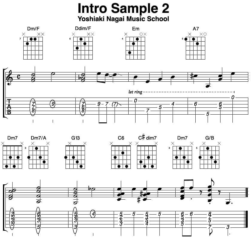 ジャズ,ギター,イントロ,レッスン