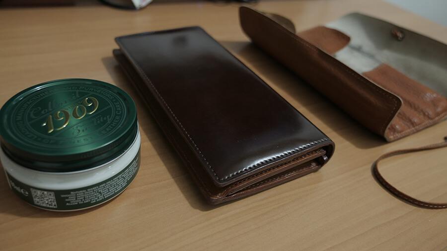 土屋鞄,コードバン,長財布,ペンケース