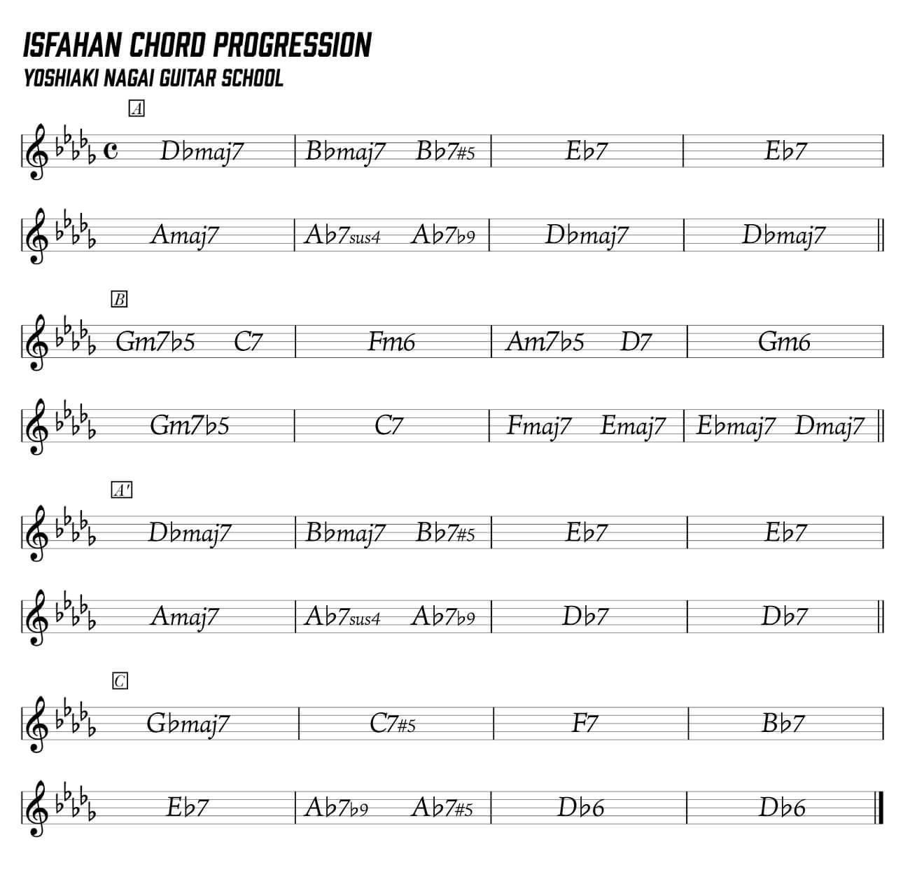 jesse-van-ruller,ジャズギター,分析,isfahan,コード進行