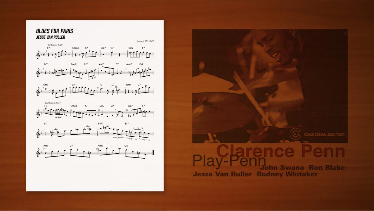 jesse-van-ruller,blues,transcription,耳コピー,ジャズギター