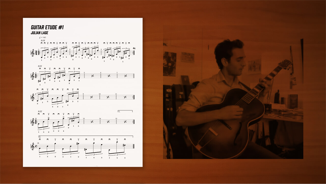 julian-lage,guiar,etude,transcription,耳コピー