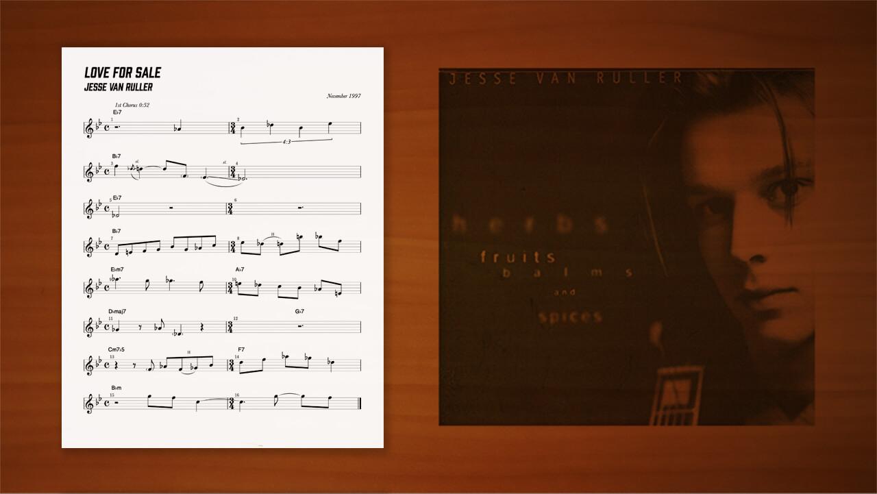jesse-van-ruller,transcription,耳コピー,ジャズギター